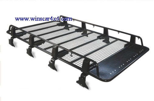Black Powder Coated Steel Roof Rack for Universal