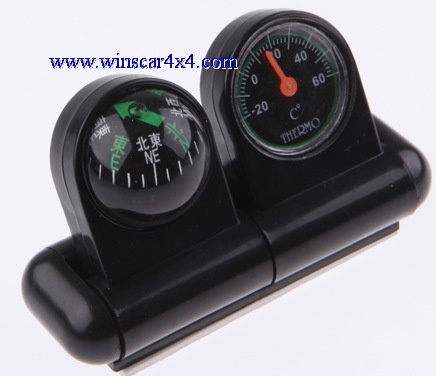 Car Compass and Thermometer 2 In 1